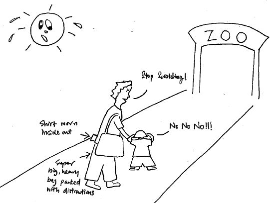 22 eczema hot day scratching cartoon