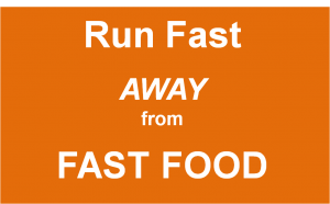 And you'll run faster as you choose healthier options!