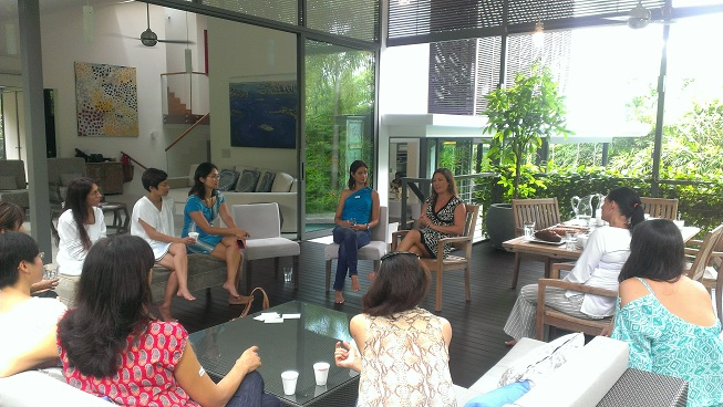 Parenting tips over Morning Tea in Sunny Singapore