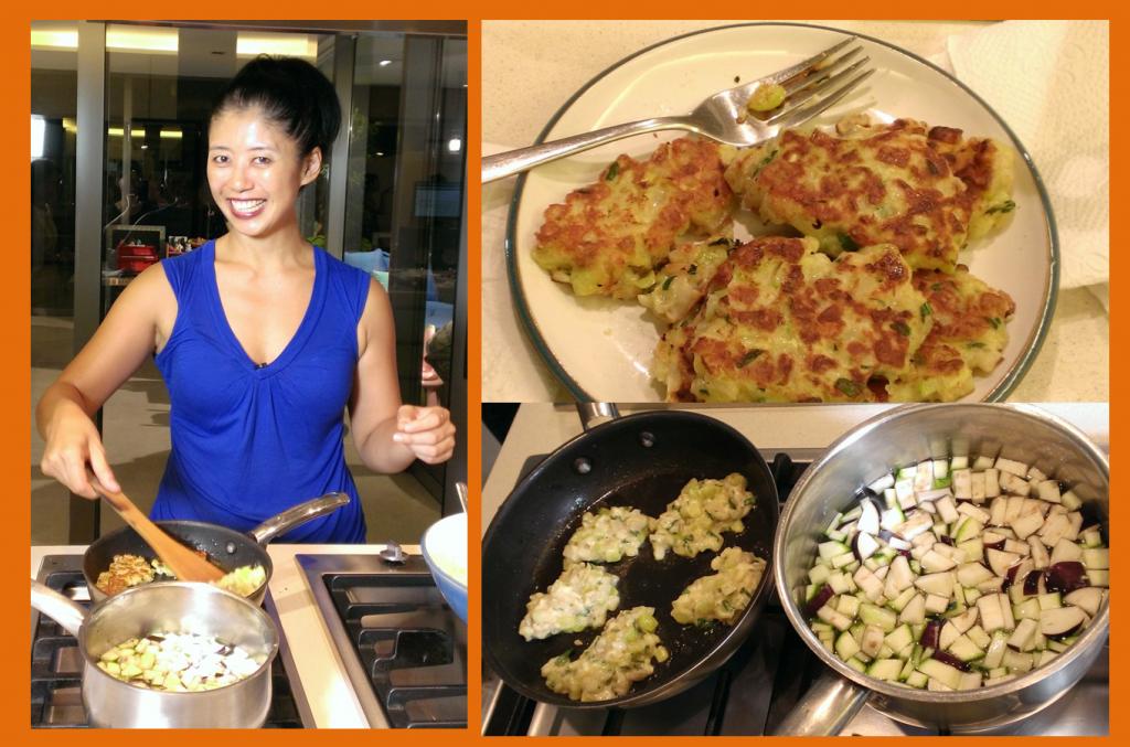 Vivien Pei cooking
