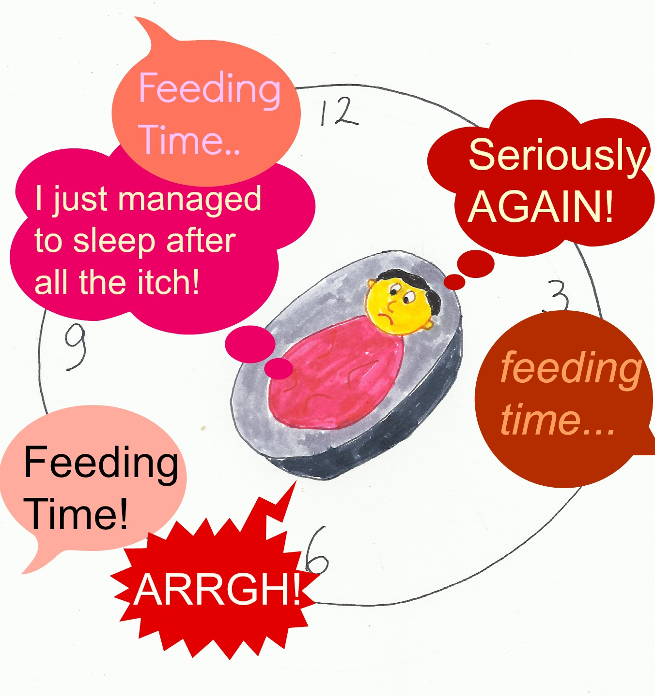 Night Milk Feeding Eczema Baby