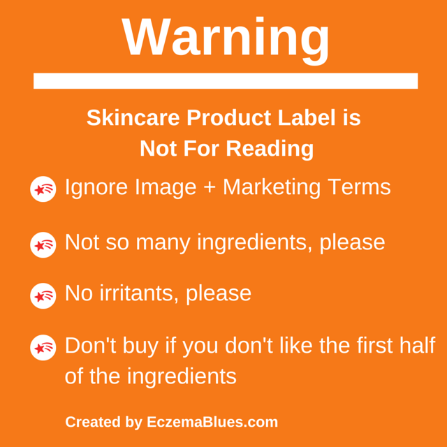 Warning skincare product label
