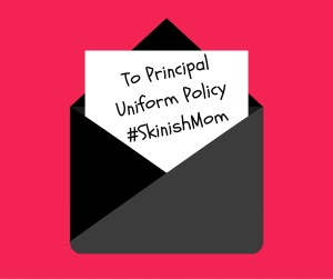 Back to School Eczema Letter to School on Uniform Policy