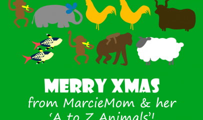 Merry Christmas from MarcieMom & A-Z Animals!